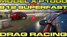 誰是「Superfastest」?Ferrari 812 Superfast 直路加速對決 Tesla Model X P100D