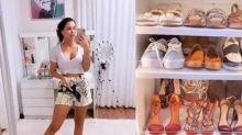 Ivy Moraes mostra closet iluminado e novos móveis do quarto: 'Super feliz com o resultado'