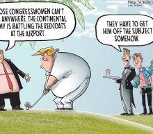 Distracting Trump from congresswomen: Today's Toon