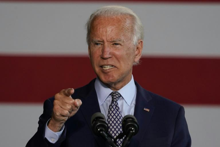 Democratic nominee for president Joe Biden makes a play for conservative Texas (AFP Photo/TIMOTHY A. CLARY)