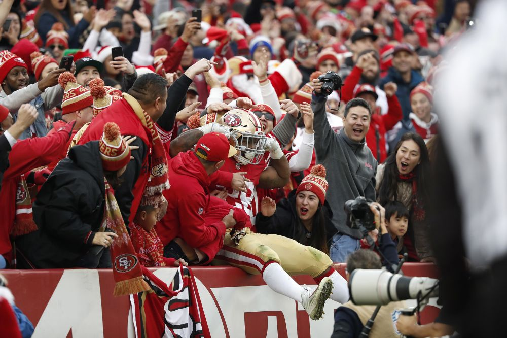 The 49ers might not be a punch line anymore since Jim Harbaugh left town. (AP)