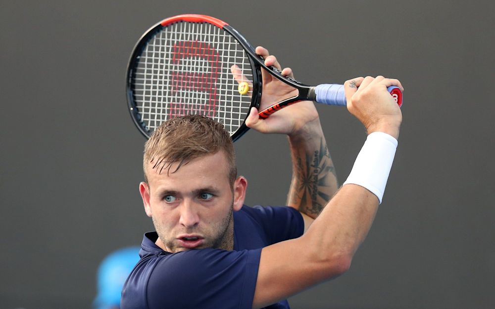 Dan Evans will compete in the singles but is not a fan of clay - Copyright (c) 2017 Rex Features. No use without permission.