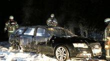 Fluchtwagen angezündet: Nach Banküberfall: Polizei prüft Clan-Zusammenhang