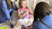 Girl, 8, loses leg following adventure with dad and brother