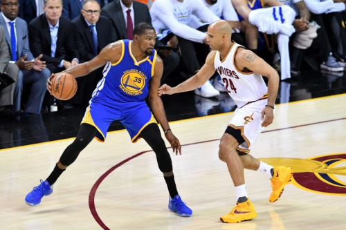 Kevin Durant had 31 points and eight rebounds Wednesday night. (Getty Images)