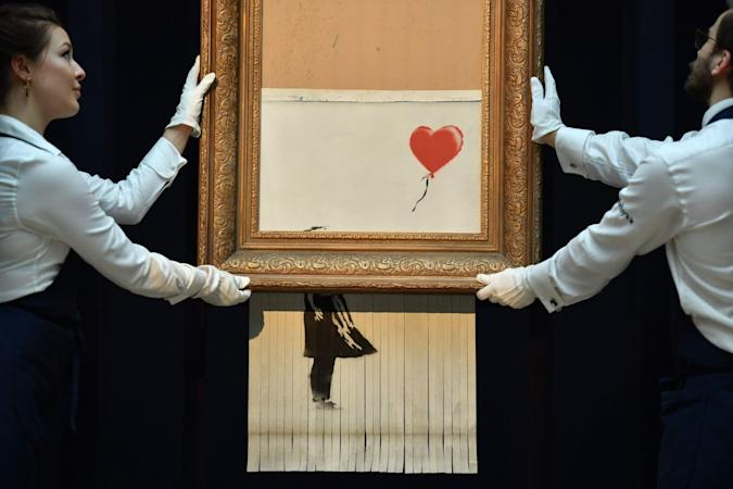Banksy's 'Girl with Balloon' was meant to be shredded completely