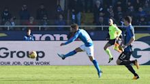 Mertens ends goal drought as Napoli goes 4 clear in Serie A