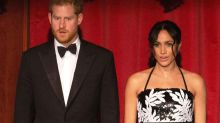 Meghan Markle and Prince Harry proudly sing God Save the Queen
