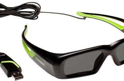 NVIDIA's new wired 3D Vision glasses give up some freedom for a lower price
