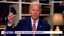 Biden rips Trump for not wearing mask: 'I can't walk outside my house' without one
