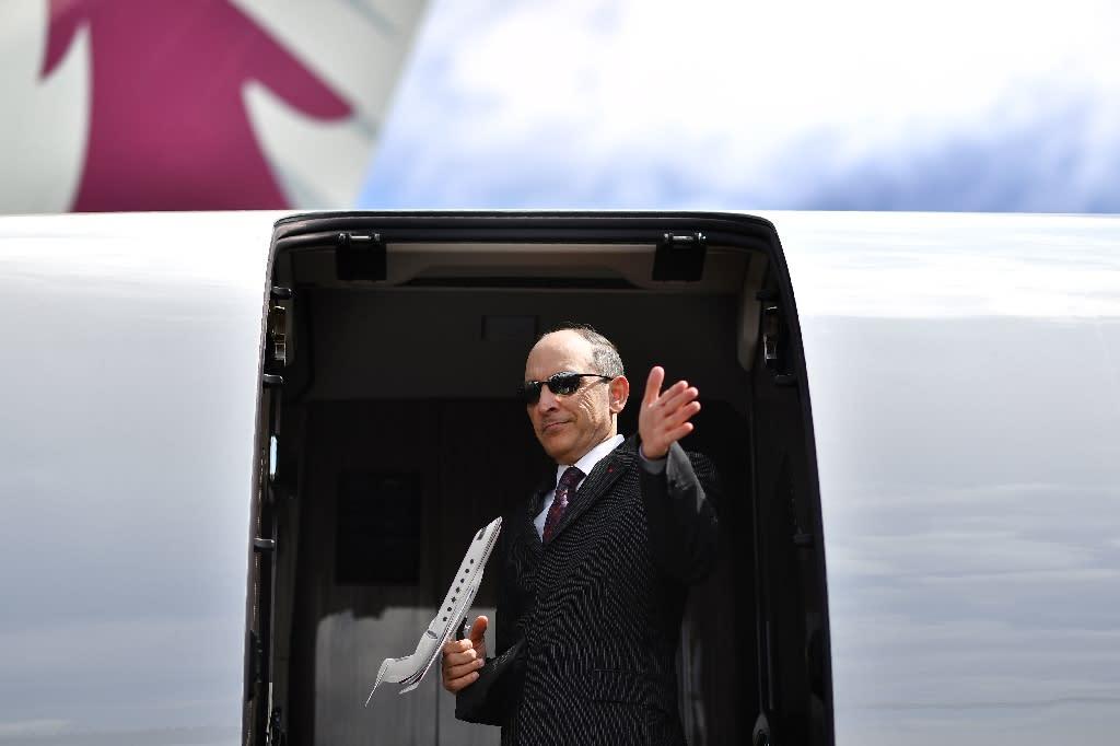 Qatar Airways CEO, Akbar al-Baker, pictured at a British airshow on July 16, 2018