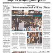Why People Are Angry Newspapers Led Their Hillary Clinton Nomination Coverage With a Photo of Bill