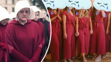 Bridesmaids roasted for 'sex slave' jumpsuits: 'Like a cult'