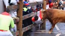 Three gored in final Pamplona bull run