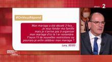 #OnVousRépond : Mariages, piscines... Le Premier ministre Jean Castex a répondu à vos questions sur les restrictions liées au Covid-19