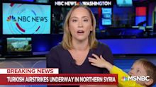 NBC News reporter interrupted by her kid live on air — and the internet is loving it