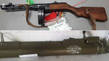 Rocket launcher and machine gun handed into police during firearms surrender