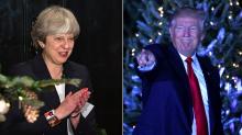 Season's greetings! Theresa May has sent a Christmas card to Donald Trump