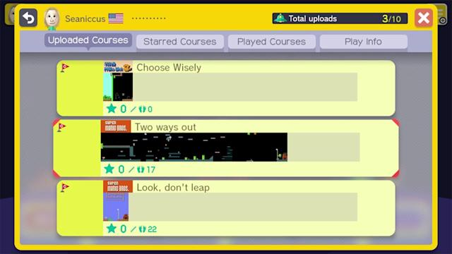 You can search for 'Mario Maker' levels on the web next week