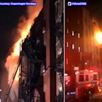 9 hurt as massive 5-alarm fire guts historic building in Chinatown