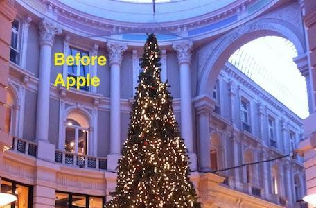 Apple's War on Christmas continues! Next victim: the Christmas tree.