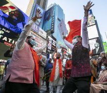 Supporters, opponents of Hindu temple meet in Times Square