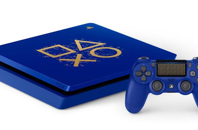 PlayStation's annual sale includes a very blue PS4 and 'God of War'