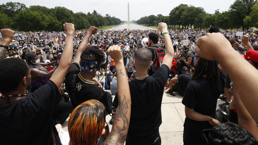 Thousands gather to protest in Washington, D.C.