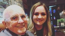 Viral video shows a grandfather's heartwarming reaction to his granddaughter's visits