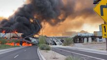 Massive fire in Arizona sparked by train derailment