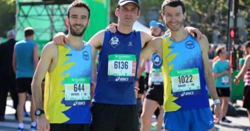 """Marathon de Paris - Un an après le """"buzz"""" de son début de course canon, Alexis Valtat était au départ du Marathon de Paris"""