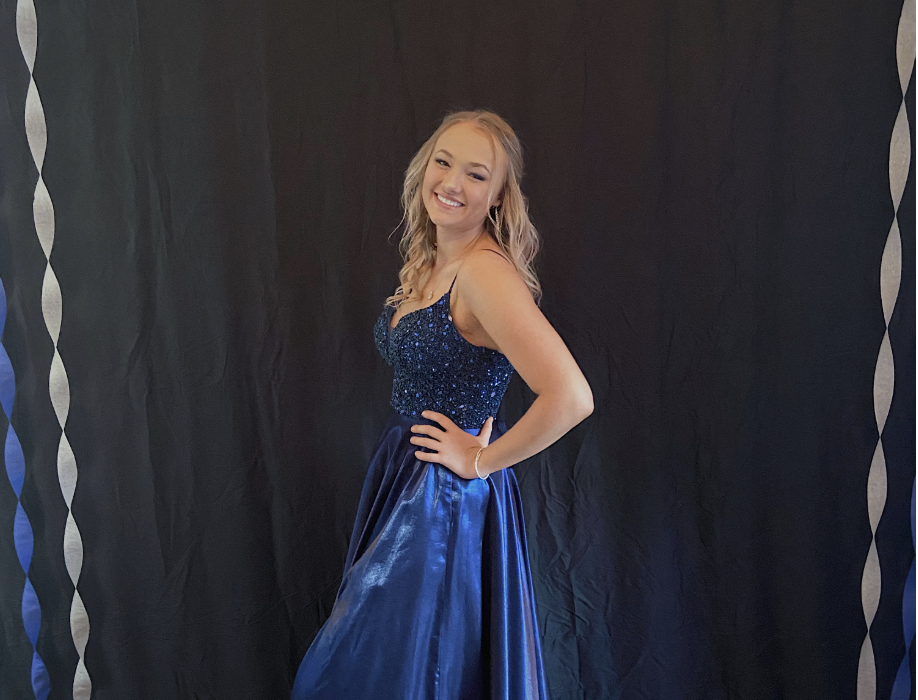 High school senior hosts an at-home prom for her family after school cancels dance due to the coronavirus