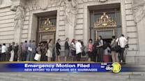 Opponents file motion to stop same-sex marriage