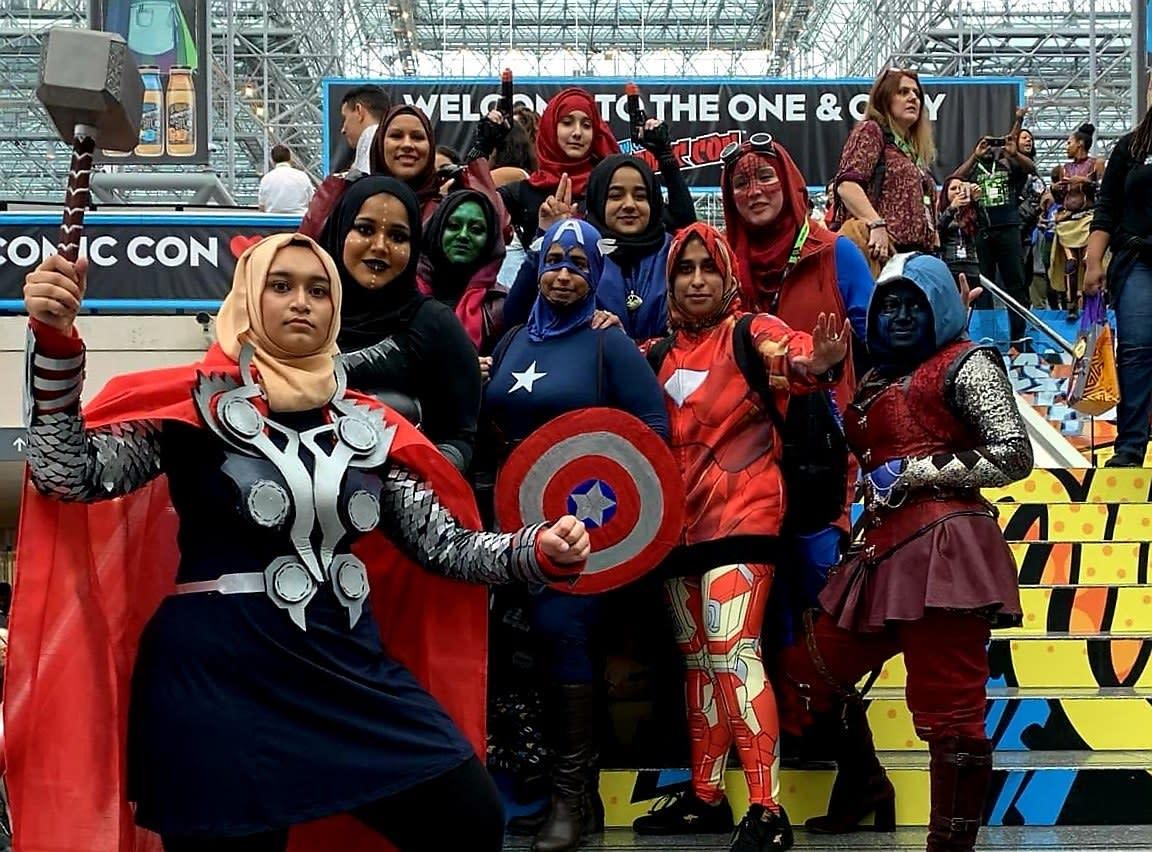 "Hijabi Women Dressed Like the ""Avengers"" at Comic Con"