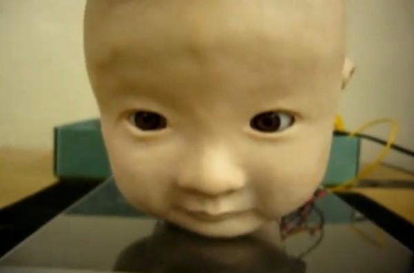 Fake robot baby provokes real screams (video)