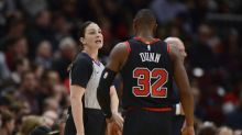 Lauren Holtkamp-Sterling makes history as first mother to officiate NBA game