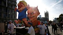 Boris Johnson effigy dragged through the streets as 'one million protesters' march through London
