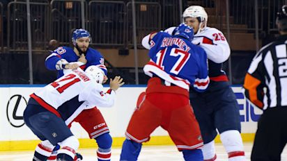 Rangers-Caps erupt into fights at face-off