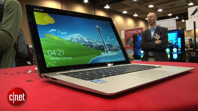 Asus Transformer Book TX300 is a Windows 8 hybrid laptop