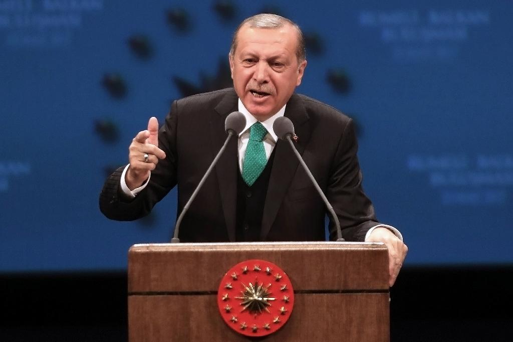 """How does that work, you have the right to call Erdogan a 'dictator' but Erdogan doesn't have the right to call you 'fascist' and 'Nazi'?"" Erdogan said during an interview with the CNN-Turk and Kanal D television channels"