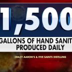 US manufacturer switches from toy-making to producing hand sanitizer