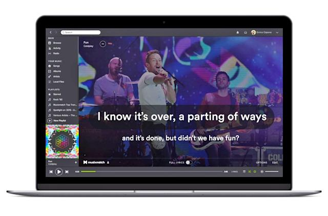 Spotify's karaoke-style lyrics are gone, for now