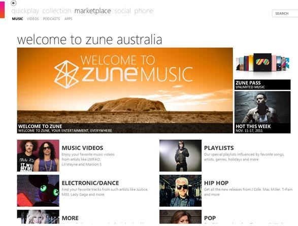 Zune Music Pass comes to the Land Down Under, you'll soon hear the thunder