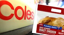 Coles customer confused by detail on hot roast chicken label