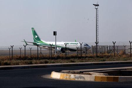 An Iraqi Airways plane is seen at the Erbil International Airport in Erbil, Iraq September 29, 2017. REUTERS/Azad Lashkari