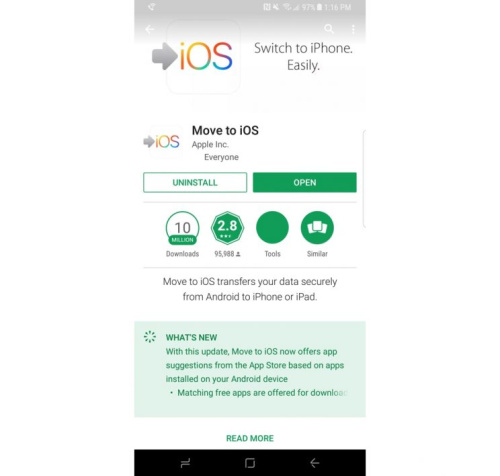 Download the move to iOS app.