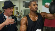 Sylvester Stallone Posts a Video of 'Creed' Co- Star Michael B. Jordan Getting Punched in the Face — For Real