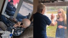 'Sweetest thing ever': Assisted-living facilities' heartwarming photos during coronavirus lockdown go viral