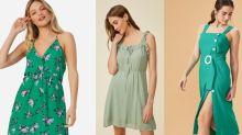 5 vestidos verdes para ficar na moda