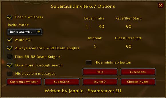 Officers' Quarters: Stop it with the invite addons